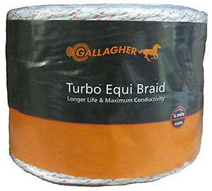 Electric Fence Turbo Equibraid Ultra White 1 16 X 1 312 Gallagher G62176