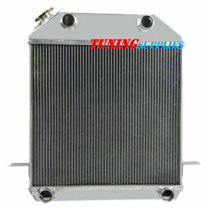 3row Aluminum Radiator For Ford Model Flathead Deluxe Pickup V8 1939 40 1941