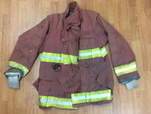 Firefighter Red Bunker Turnout Jacket 44 X 31 Quest