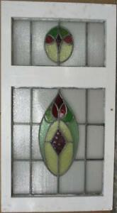 Large Old English Leaded Stained Glass Window Cute Abstract 20 X 37