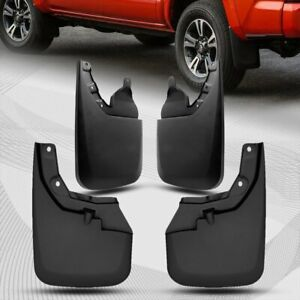 For Toyota Tacoma Front rear Molded Mud Splash Guards With Oem Fender Flares 4pc