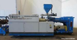 Used Krauss Maffei K m 120 Mm Twin Screw Extruder reconditioned By Trimec 201