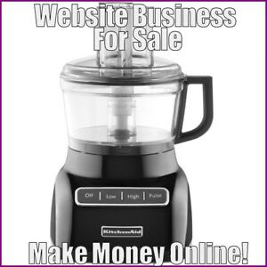 Fully Stocked Food Processors Website Business free Domain free Hosting traffic