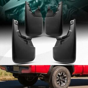 Molded Mud Flaps Splash Guards With Oem Fender Flare 4pc Fit 16 18 Toyota Tacoma