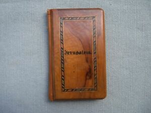 Vintage Jerusalem Inlaid Olive Wood Calling Card Case