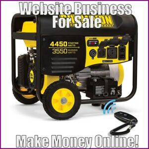 Outdoor Generator Website Earn 263 41 A Sale free Domain free Hosting traffic