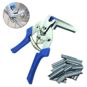 Hot Ring Plier 600pcs M Nail Staples For Bird Chicken Mesh Cage Wire Fencing