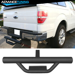 Universal Textured Hitch Step Bumper Guard W 2inch Receiver 31 5inch Long Black