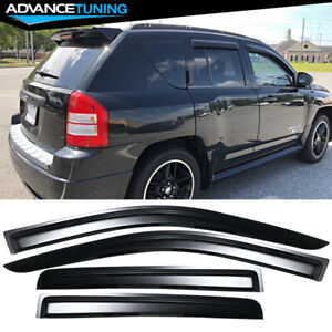 Fits 07 17 Jeep Compass Acrylic Window Visors 4pc