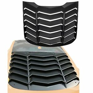 Matte Black Abs Rear Window Louvers Scoop Cover Fits For 2015 2018 Ford Mustang