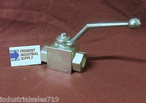High Pressure Hydraulic Ball Valve 2 Way 1 2 Npt Ports 7250 Psi Italian Import