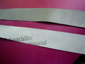 Silver Metallic Fluorescent Reflective Scotchlite Water Resistant Safety Tape