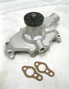 Plain Aluminum High Volume Small Block Chevy Short Water Pump 283 327 350 Sbc