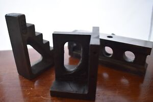 Machinist Tool Lot Of 3 Angle Plate Parallel Fixture And Plate Stop Milling
