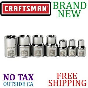 New Craftsman 7pc Piece External Torx Socket Set 1 4 And 3 8in Inch Drive 6 Pt