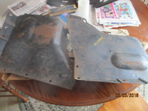 Nos Chevrolet 1946 1947 1948 Passenger Right And Left Fender Skirt Panels Gm