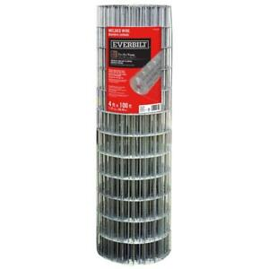 Everbilt 4 Ft X 100 Ft Galvanized Steel Welded Wire Fence Garden Outdoor New