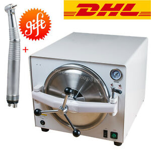 18l Portable Medical Steam Sterilizer Autoclave Dental Lab Sterilizers Handpiece