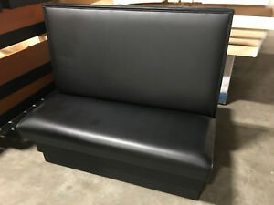 Restaurant Booth 48 l X 42 h Double Sided In Black Vinyl Seat Made In Usa