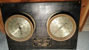 Ultra Rare Crosby Steam Gauges 10 25 Industrial Steampunk Vintage Sullivan