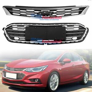 New Front Bumper Upper Grill Middle Lower Grille For Chevrolet Cruze 2016 2017