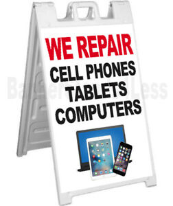 We Repair Cell Phones Tablets Computers Sidewalk Sign A frame Signicade Wb