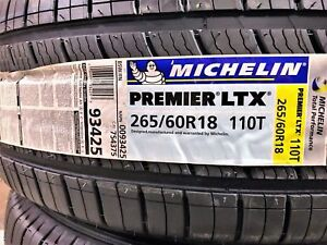 4 New Michelin Premier Ltx P265 60r18 A S All Season Tire