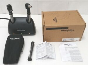 Welch Allyn Otoscope Opthalmoscope Set With 71140 Double Charger Base