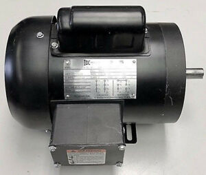 Electric Motor 1 2 hp 1800 rpm 56 frame 1 Single phase 5 8 Keyed Shaft New