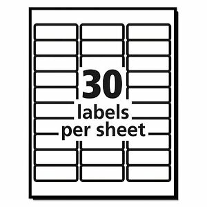 300 10 Sheets Blank Address Mailing Labels 1 X 2 5 8 Fit 5160 8160