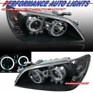 Set Of Pair Black Halo Projector Headlights Hid Ver For 2001 2005 Lex