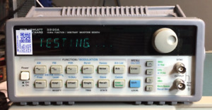 Hp 33120a 15mhz Function Arbitrary Waveform Generator With Calibration Cert