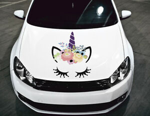 Unicorn Full Color Head Car Hood Vinyl Sticker Decal Fit Any Vehicle Auto H25
