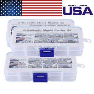 3 Kits Dental Clinic Lab Orthodontic Mini Injection Ortho Mould Accessories Usps