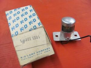 Nos New Kd Lamp Company License Lamp 261307 1974 Date Stamp