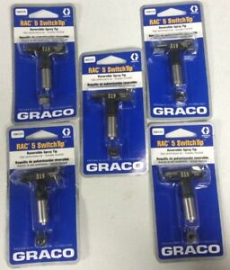 New Graco Rac 5 Switch Tip Reversible Set Of Five 519 Free Shipping