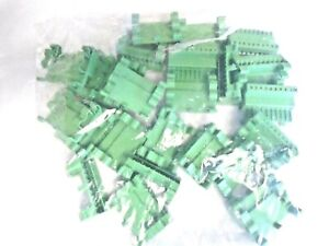 Contact Terminal Block Component Pluggable 10 Pin Connector Green 24 Lot New 12