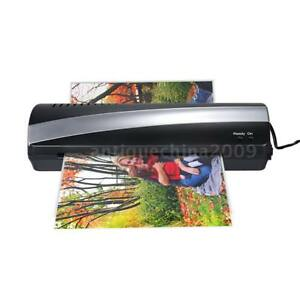 A4 Thermal Hot Cold Photo Paper Laminator Machine Laminating Quick Warm up K9y1