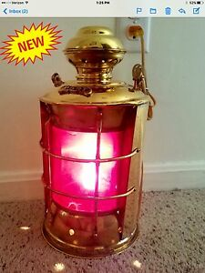 Nautical Solid Brass Port Electric Bulkhead Ship S Decoratiive Lantern