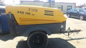 Atlas Copco Portable Air Compressors Towable Mobile Compressor Used
