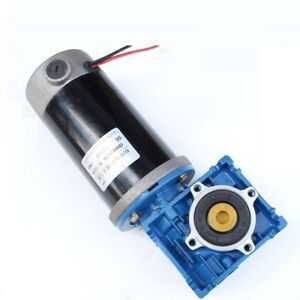 Dc 12v 15a 15rpm 150kg cm Low Speed High Torque Worm Gear Reducer Motor