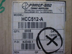 Power One Hcc512a Power Supply In 115 230 Out 5vdc 6amps And 9 15 Vdc 2 5 Amps