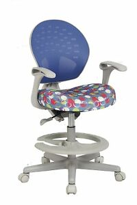 Viva Office Children s Desk Chair With Adjustable Height depth And Foot Rest