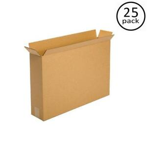 25 Pack 24x5x18 Moving Boxes For Flat Panel Lcd Plasma Tv Pictures And Mirrors