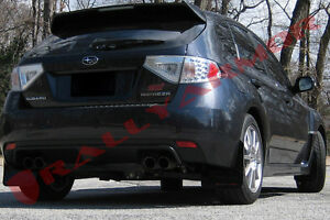 Rally Armor Black Ur Mud Flaps Red Logo For 08 14 Sti 11 14 Wrx Hatchback