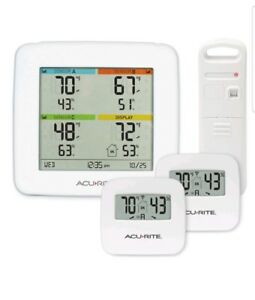Acurite 01096m Temperature Humidity Station With 3 Indoor outdoor Sensors