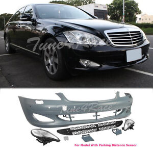 2007 2009 Mercedes Benz S Class W221 Front Fascia Bumper W Fog Lights Body Kit