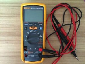 1pc Used Fluke 1587 Insulation Multimeter Tester 50v 1000v Megohm Meter With Le