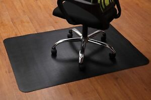 Office Chair Mat Hardwood Floor Protector For Computer Desk Black Rectangular