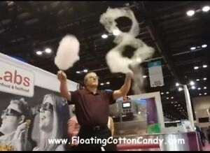 Robo Jetfloss Commercial floating Cotton Candy Machine Vertical Upflow